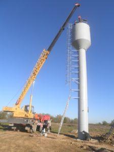 установка водонапорной башни в спб цена